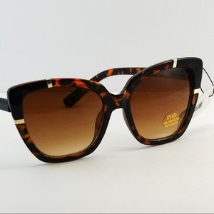Accessories - Cat Eye Women Sunglasses - Black/Brown